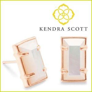 Kendra Scott Paola Rose Ivory Gold Earrings